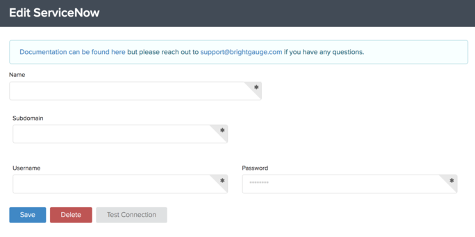 Connecting To ServiceNow – BrightGauge Support