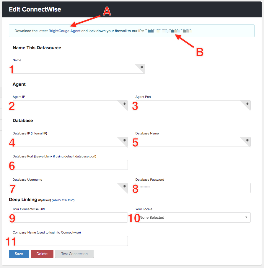 Connecting To ConnectWise Manage On Premise – BrightGauge Support
